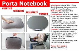 bolso multifuncional para notebook, sirve como escritorio