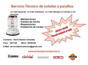 servicio tecnico estufas a parafina
