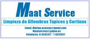 maatservice cel 96242377 lavado de alfombras, tapices y cortinascon blackou