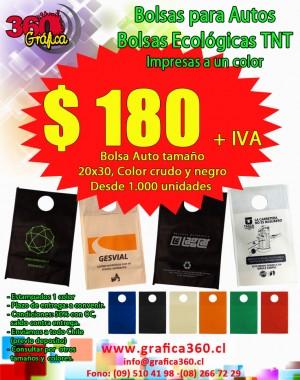 bolsas para autos- ecológicas tnt - bolsas vehiculos