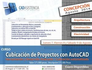 nuevo curso cubicación de proyectos con autocad