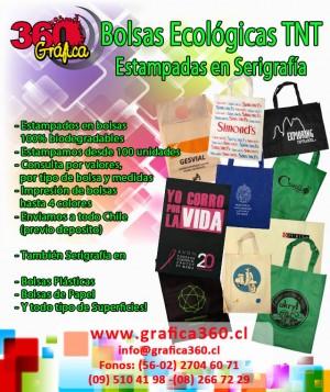 bolsas ecológicas tnt estampadas en serigrafía