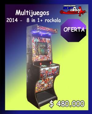 multijuegos 2014-8 in 1+rockola precio: $ 480.000