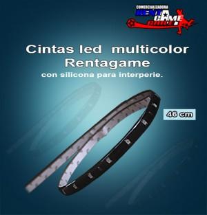 cintas led  multicolor rentagame /46 cm. interperie con silicona