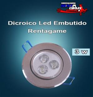 dicroico led embutido rentagame 3 watt/220 volt/luz fria