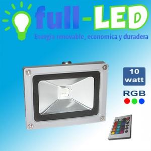 foco 10 watt rgb/220 volt/control remoto/ envios a todo chile