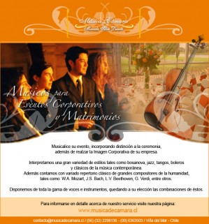 coro, cantantes y m�sicos en vivo para tu evento o matrimonio