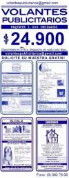 Volantes Publicitarios -1.000 Unidades x $24.900
