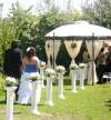 Decoración para matrimonios. Arcos florales, Pérgolas, Pilares, Piletas.