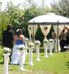 Decoraci�n para matrimonios. Arcos florales, P�rgolas, Pilares, Piletas.