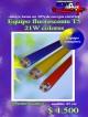 Equipo fluorescente t5 21w colores/ precio: $ 4500